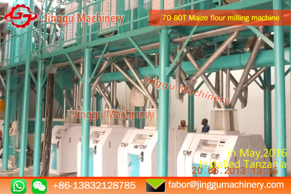 Tanzania 70-80T maize flour milling machine project |  best maize flour milling machine
