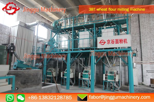 38T vertical wheat flour processing plant | wheat flour miiling machine