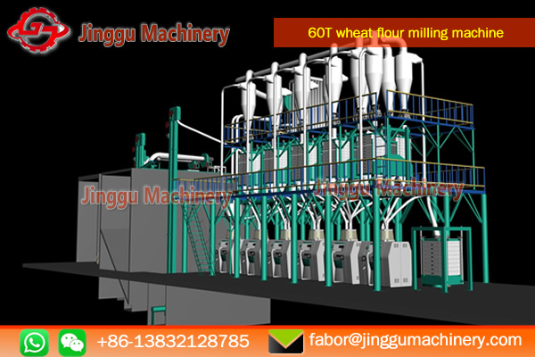 60T wheat flour milling machine for sale | wheat flour milling plant/machine