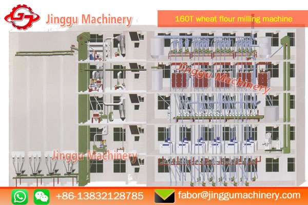 160T floor structure wheat flour milling production line | wheat flour milling machine