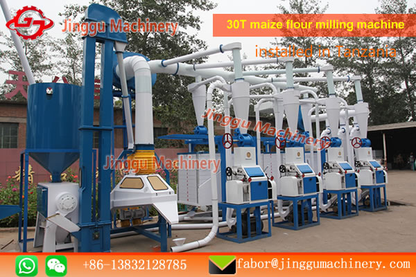 commercial maize milling machine | 30T commercial maize flour milling machine